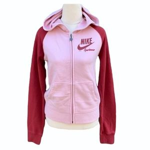 NIKE | Contrast pink and red hoodie